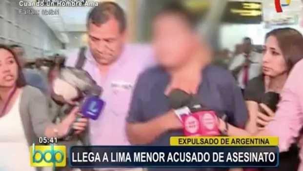 El acusado de matar a Brian ya llegó a Perú
