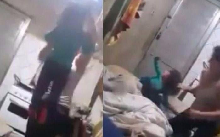 Madre golpea salvajemente a su hija porque no encuentra una tablet — Indignante