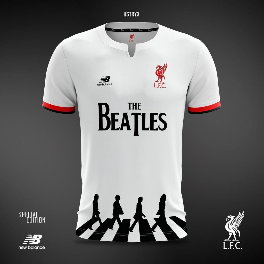 La camiseta de Liverpool en honor a The Beatles