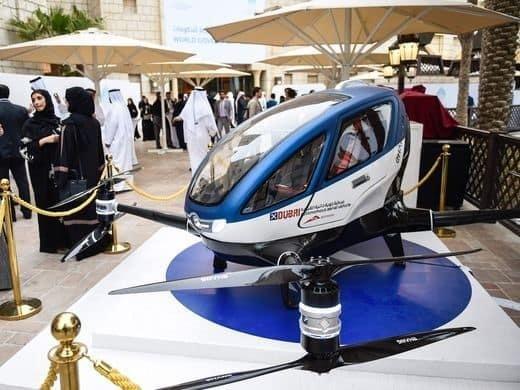 Taxis voladores, una nueva forma de viajar que se implementará este año en Dubái