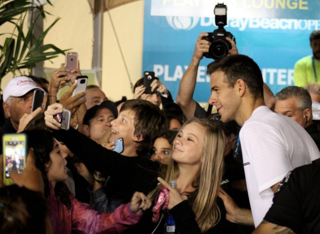 Del Potro avanzó a cuartos de final en Delray Beach