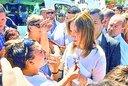 Vidal se topó con protestas en Monte Hermoso