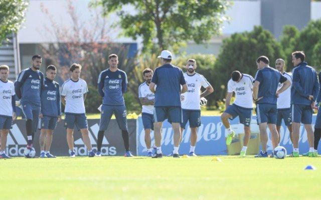 Argentina realizó su primera práctica para enfrentar a Chile