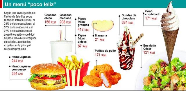 """Comida chatarra, la principal causa del """"efecto engordadero"""""""