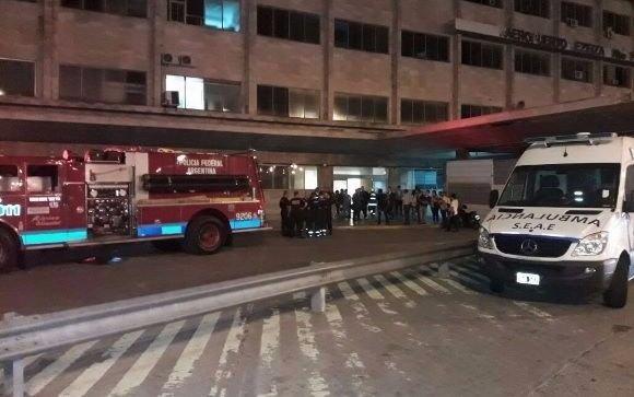 Incendio en torre de control del Aeropuerto de Ezeiza