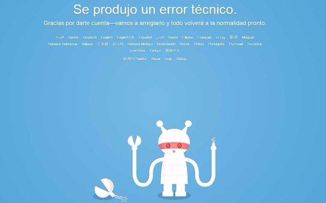 Ahora fue Twitter el que anduvo con problemas