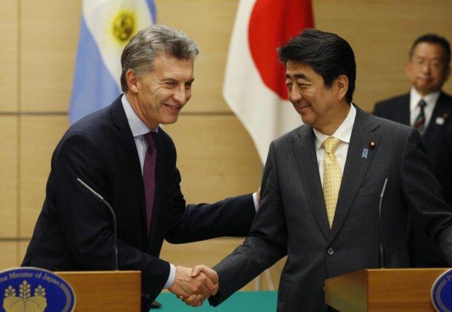 Fuerte espaldarazo a Macri del primer ministro de Japón