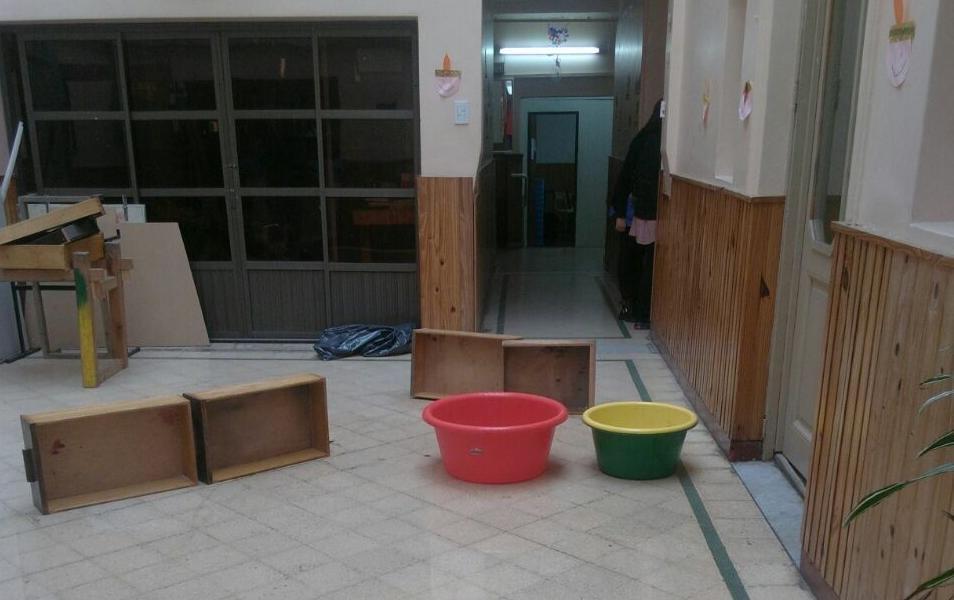 Si llueve, en la escuela 517 no hay clases