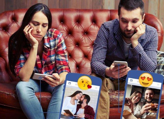 Las parejas felices de Facebook no estarían tan bien como presumen