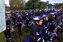 Presentaron 60 bicipolicías para custodiar las escuelas de la Ciudad