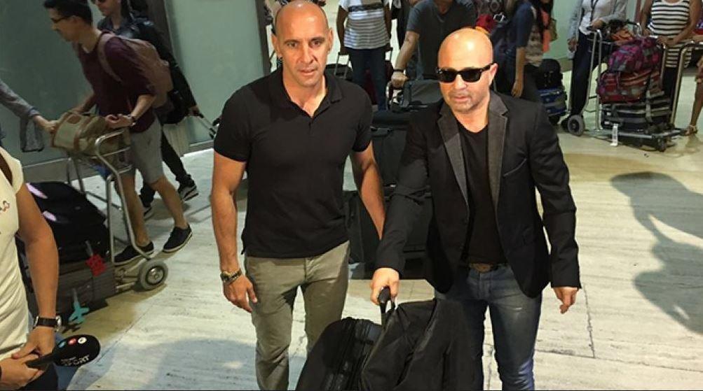 Jorge Sampaoli llegó a la Argentina en silencio