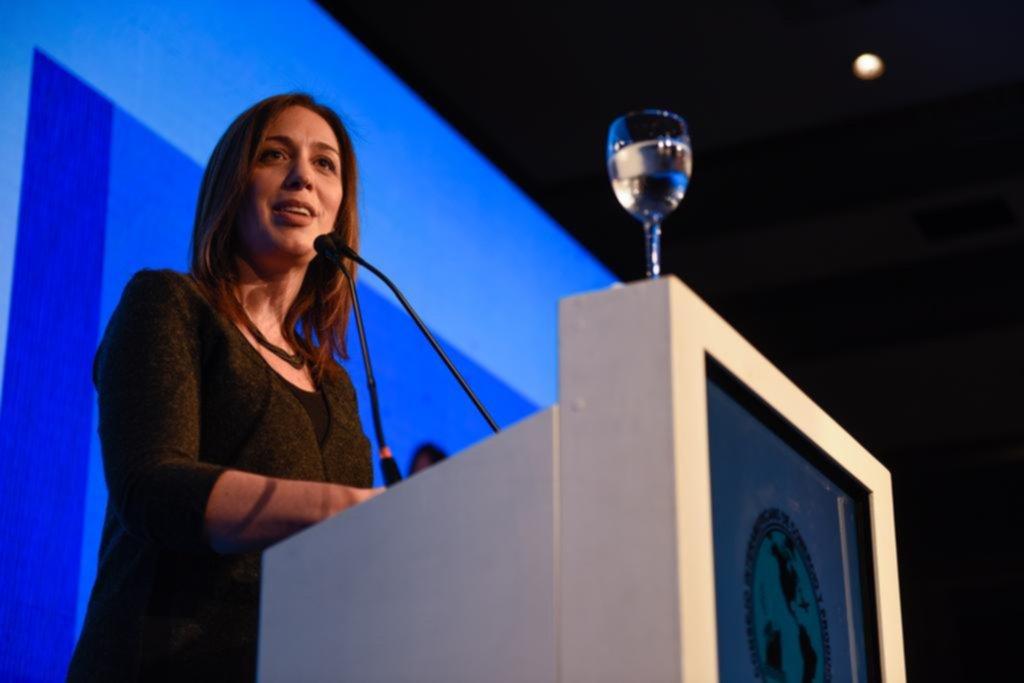 María Eugenia Vidal destacó la gestión ante empresarios de todo el país