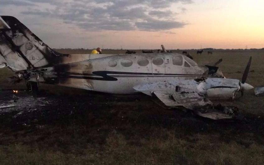 Cayó avioneta de la Policía Federal en Canning