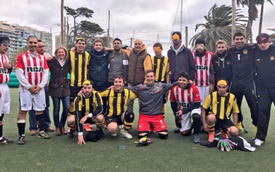 El Pincha y Peñarol, en fútbol para ciegos
