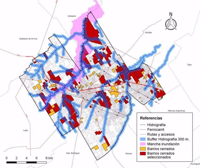 Con modelos matemáticos buscan reducir las inundaciones en los alrededores de barrios privados