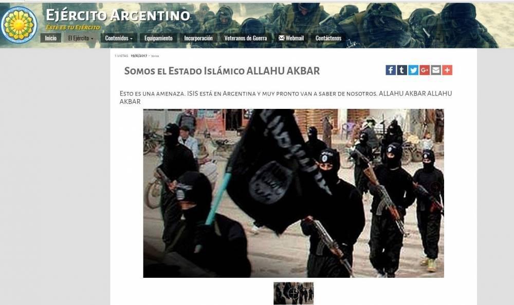 Hackearon página web del Ejército Argentino