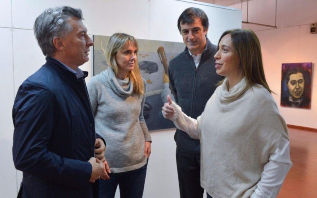Macri y Vidal se mostraron con Bullrich y González en Luján