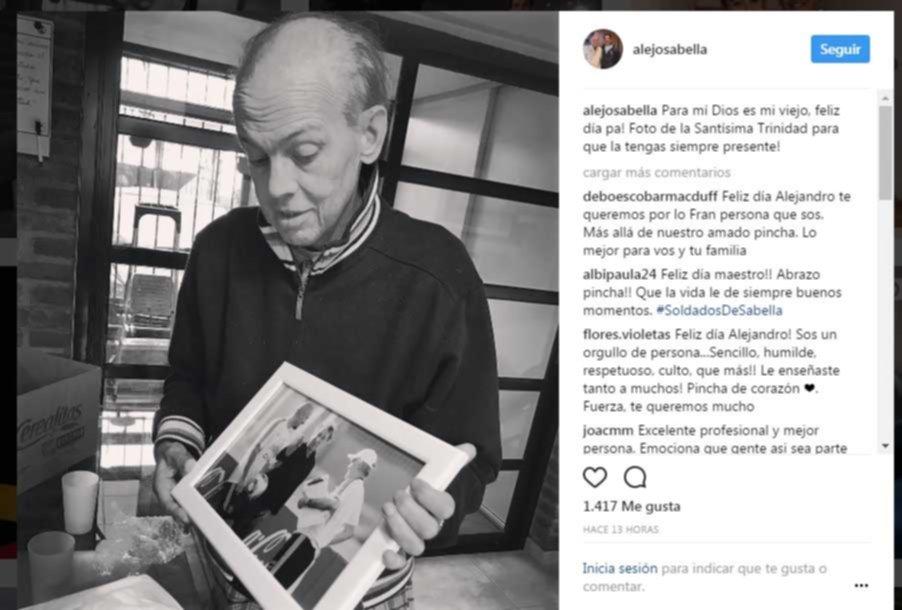 El emotivo mensaje que recibió Alejandro Sabella por el Día del Padre