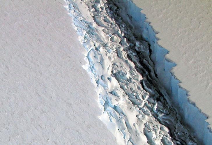 Un iceberg gigante amenaza desprenderse de la Antártida