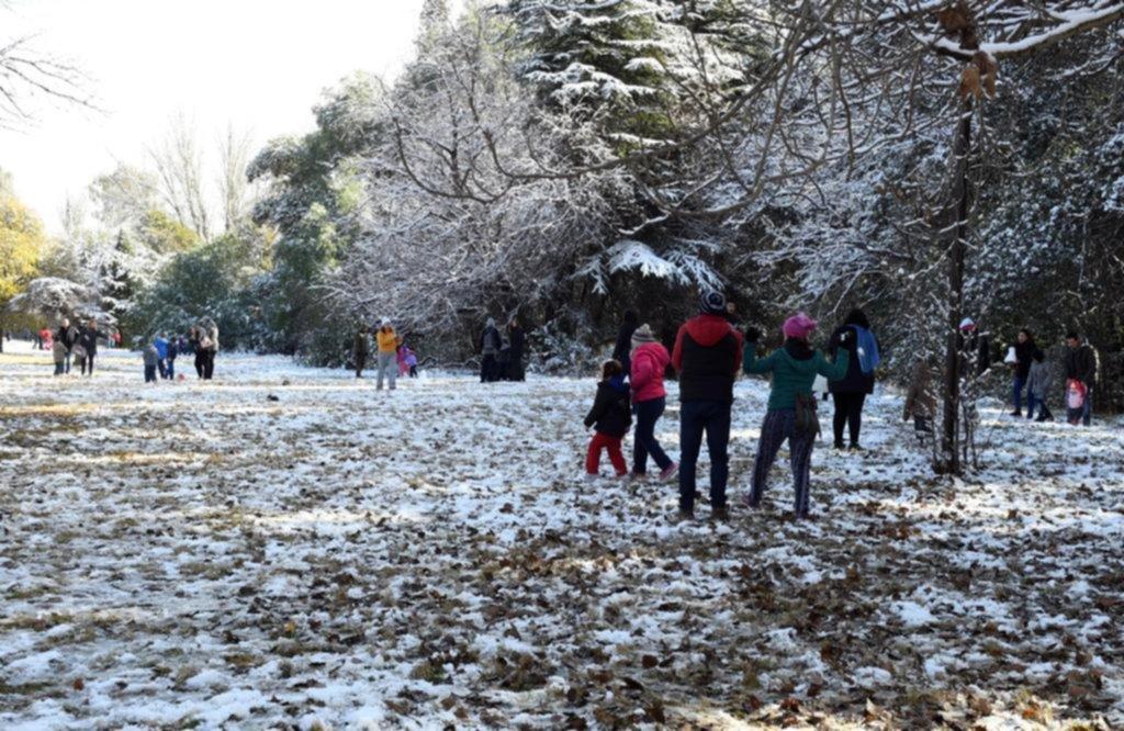 Nevó en Bahía Blanca y en Sierra de la Ventana