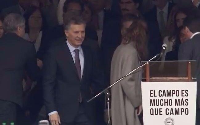 Macri inauguró la Rural: