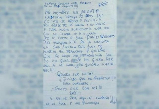 El gobierno bonaerense interviene en el caso de la nena que pidió ayuda en una carta