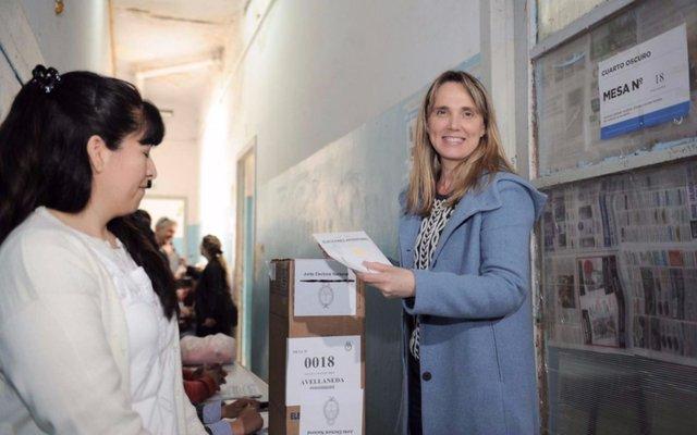 Gladys González votó en Avellaneda