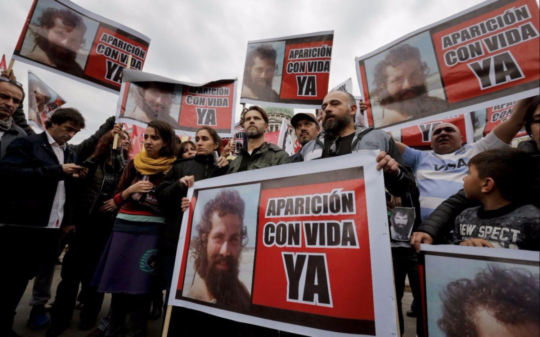Marcha a un mes de la desaparición de Santiago Maldonado
