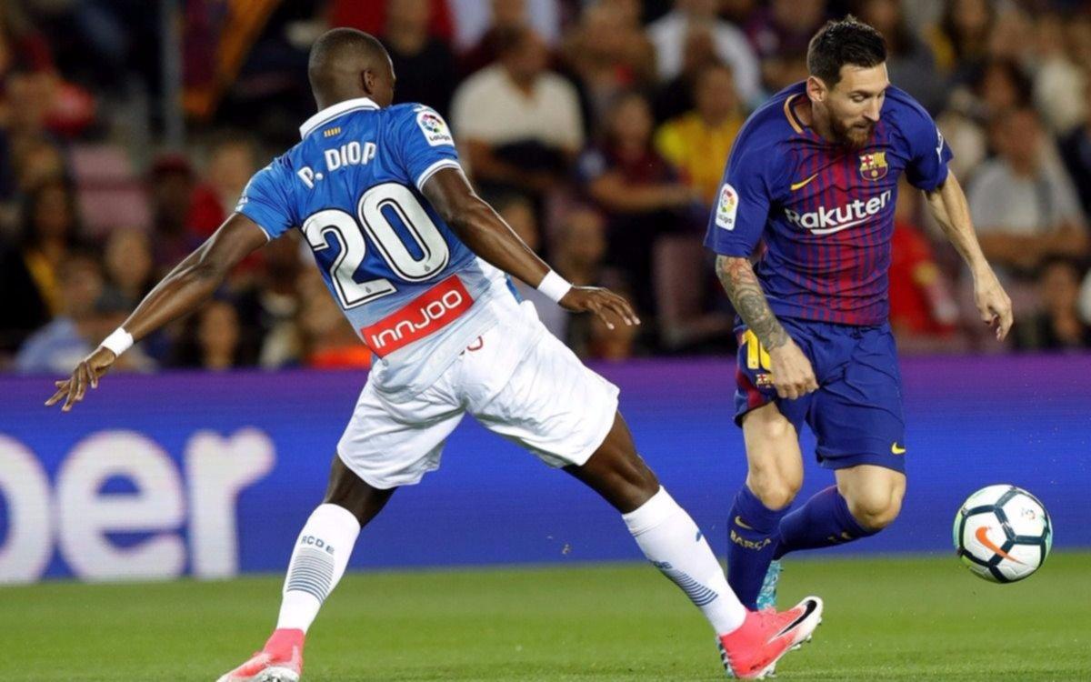 Messi marcó por tres en la abultada victoria del Barcelona ante Espanyol