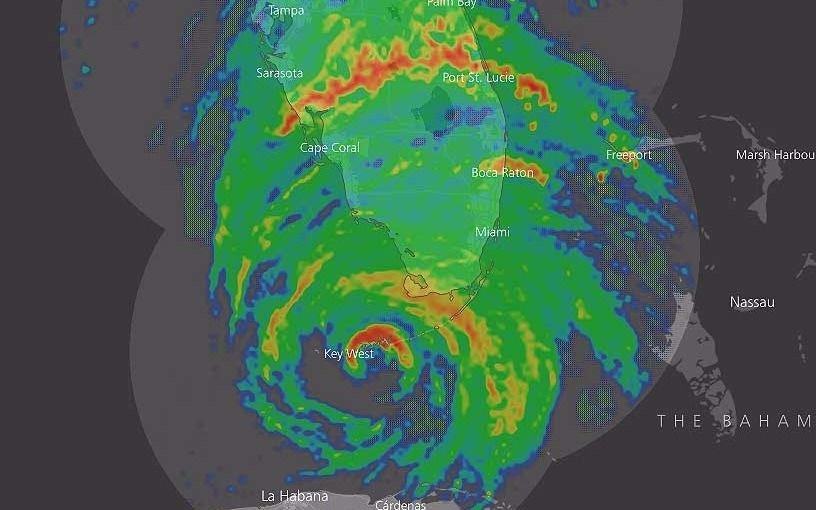 VIVO: Irma recuperó la categoría 4 y ya embate con dureza contra Florida