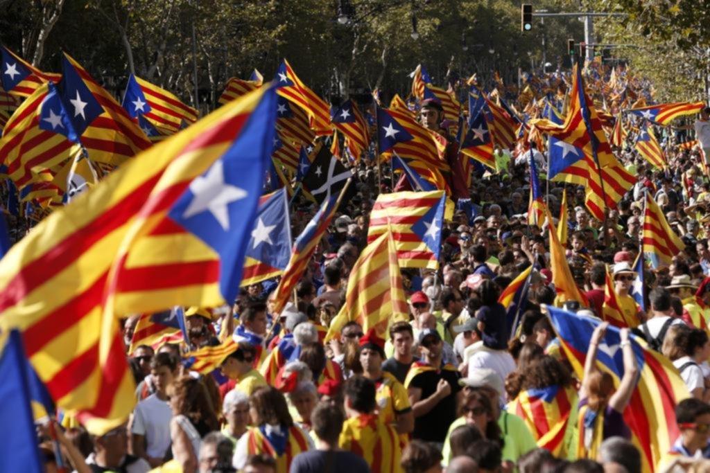 Masiva marcha de los independentistas en Cataluña