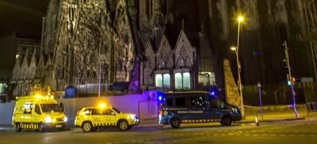 Susto en la basílica de la Sagrada Familia en Barcelona