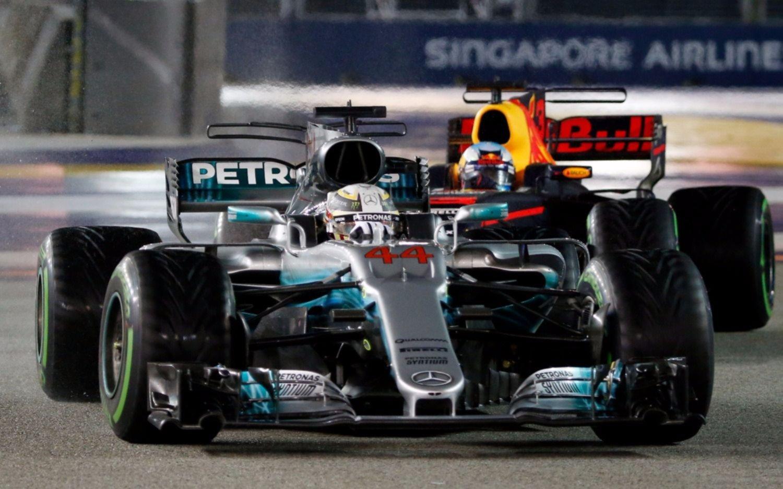 En Singapur, Hamilton obtuvo su séptima victoria de la temporada en la Fórmula 1