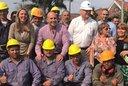 Molina y Gladys González inauguraron obras cloacales en Quilmes