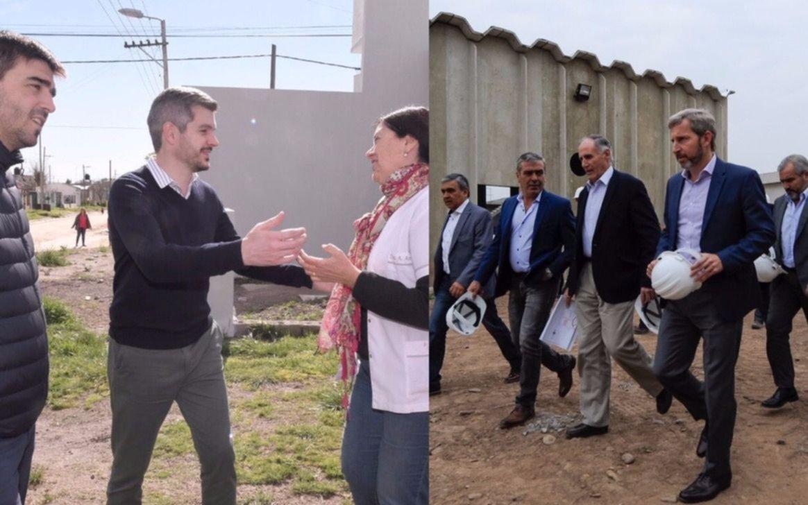 En campaña, Peña y Frigerio pusieron el foco en la obra pública