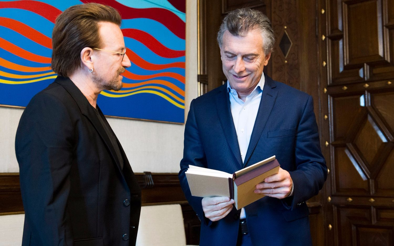 El líder de U2 le preguntó a Macri sobre Santiago Maldonado