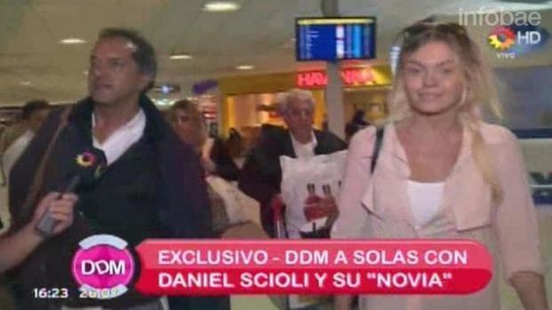 """""""Estamos muy bien"""", dijo Scioli sobre su compañía"""