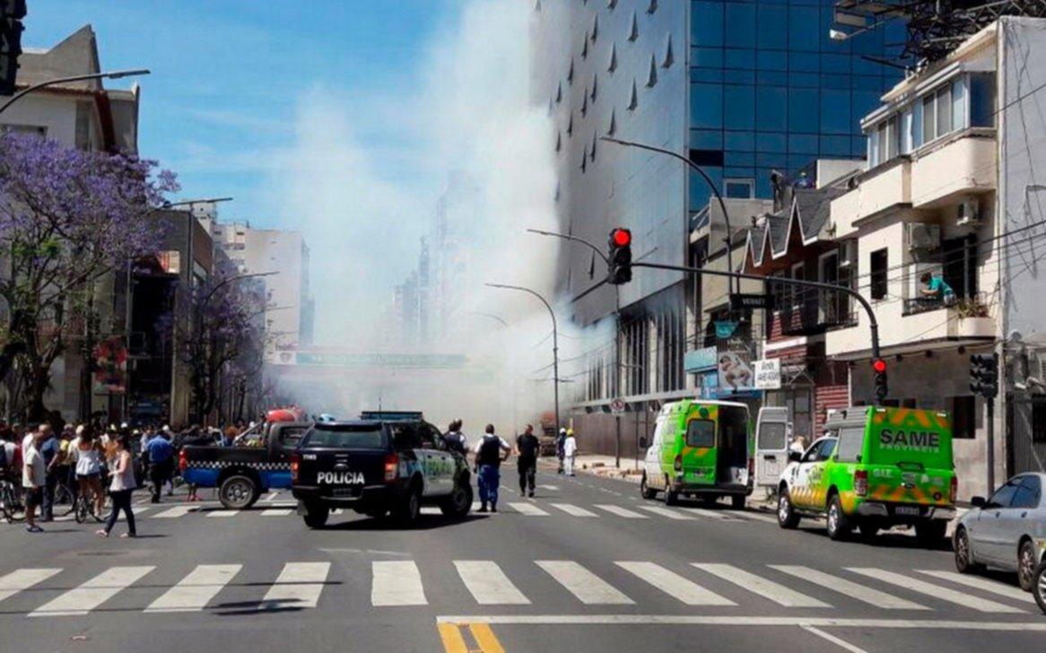 Voraz incendio en edificio de Vicente López