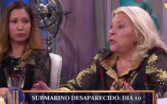 """Carrió dijo que los 44 tripulantes del Ara  San Juan """"están muertos"""""""