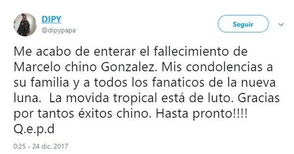 La cumbia está de luto, murió Marcelo