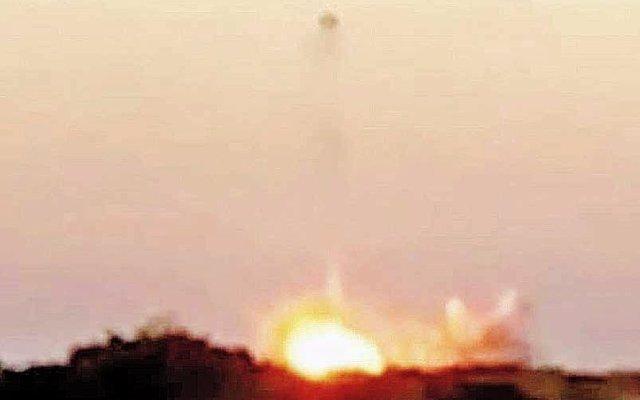 Lanzaron un cohete en Punta Indio y se estrelló a segundos del despegue