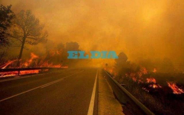 Las postales del incendio que ya consumió 90 mil hectáreas en Mendoza