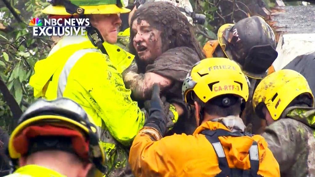 Al menos 15 muertos por una avalancha de barro en California