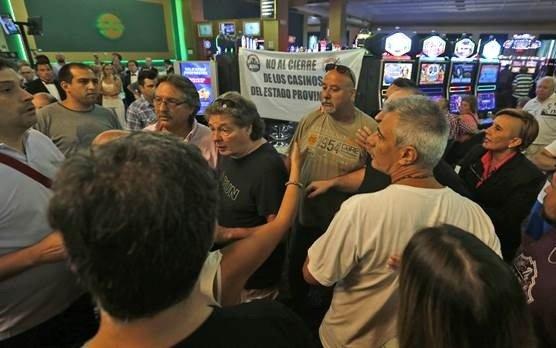 Trabajadores del juego protestaron frente al Casino Central de Mar del Plata