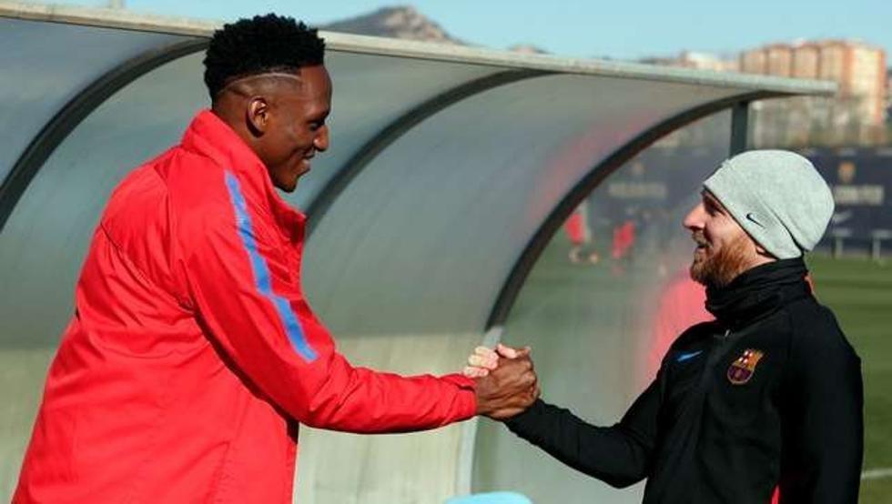 Lio Messi le dio la bienvenida a Yerri Mina