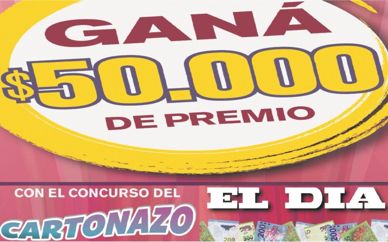 ¡Controlá tu Cartonazo, un premio de $50.000 busca dueño!