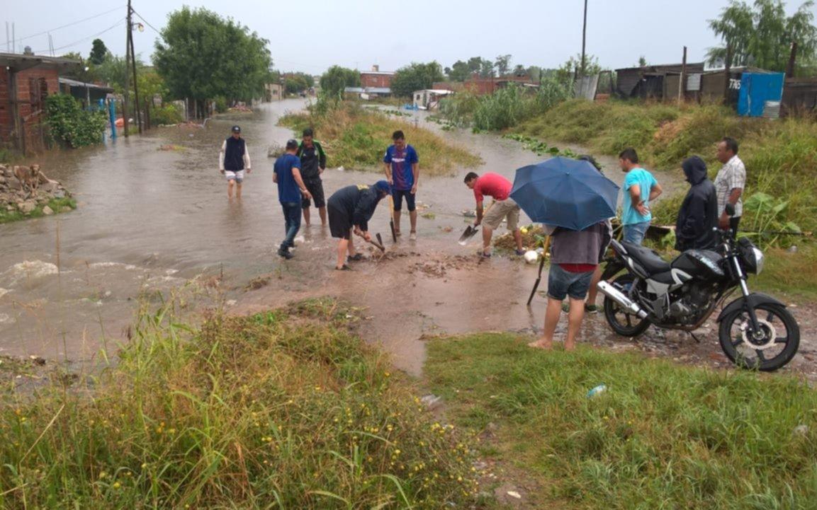 Volvió a llover y varios sectores de la región nuevamente quedaron anegados