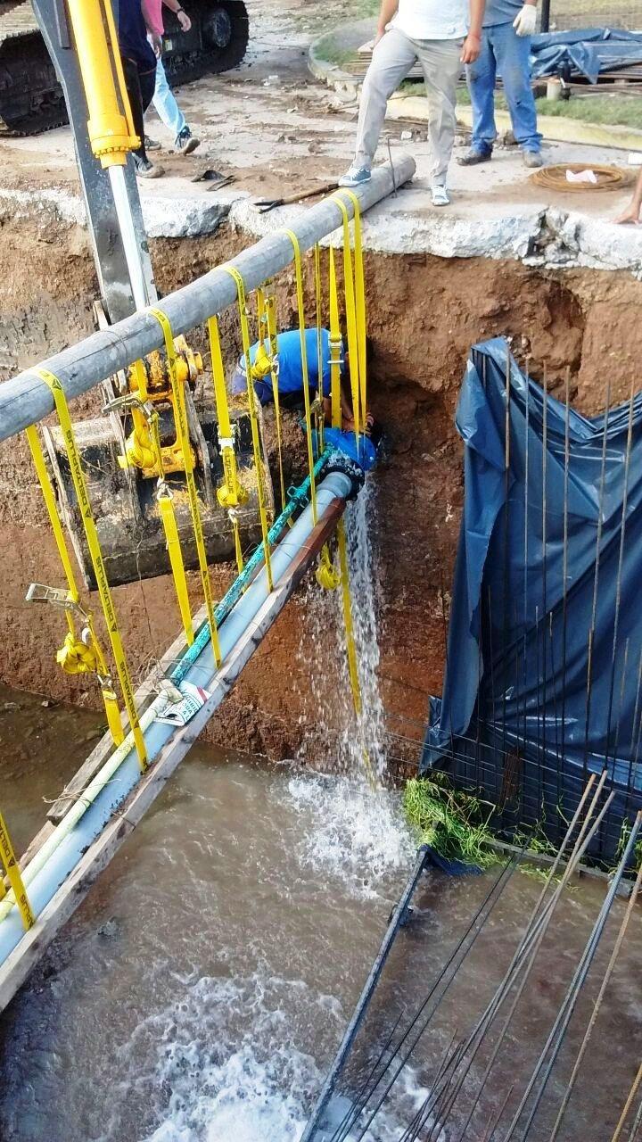 Concluyó una obra que afectaba el servicio de agua
