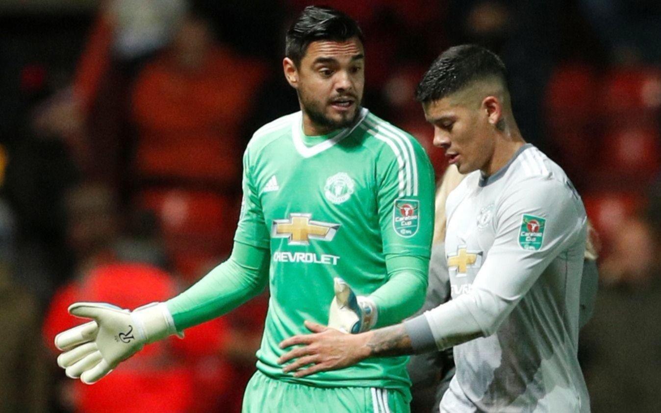 """Sampaoli se reunió con """"Chiquito"""" Romero y Marcos Rojo en Manchester"""