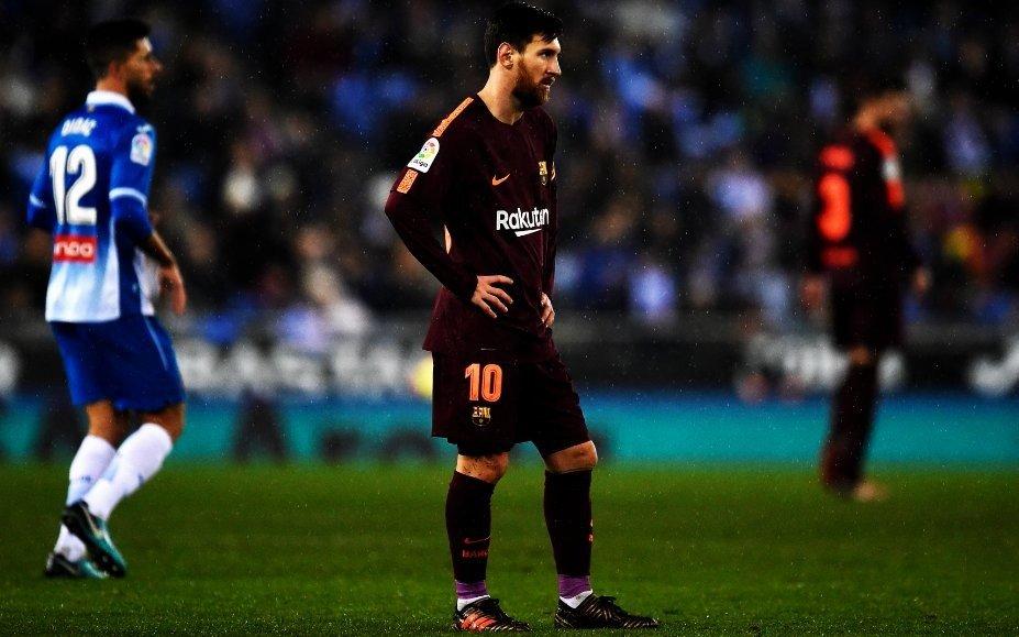 Messi falló un penal en la caída del Barcelona ante Espanyol